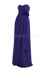 Custom Color Sweetheart Chiffon Long Bridesmaid Dress BSD375