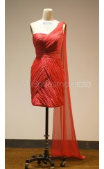 Custom Color Short One Shoulder Bridesmaid Dresses BSD381