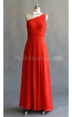 Custom Color A Line Long Bridesmaid Dress BSD384