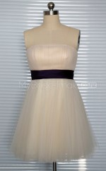 Custom Color Short Tulle Bridesmaid Dress BSD397