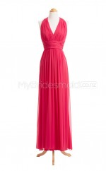 Custom Color Long Chiffon Bridesmaid Dress BSD407