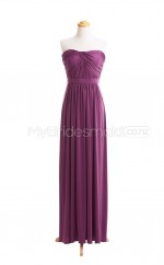 Custom Color Strapless Chiffon Long Bridesmaid Dress BSD410