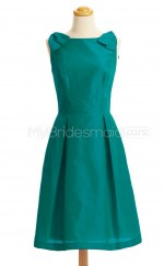 Custom Color Bateau Taffeta Short Bridesmaid Dress BSD420