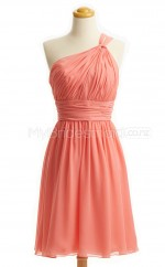 Custom Color Short One Shoulder Bridesmaid Dresses BSD441