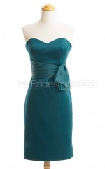 Custom Color Short Satin Bridesmaid Dress BSD442