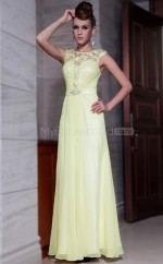 A-line Long Yellow Dress for Party(GZNZ30825)