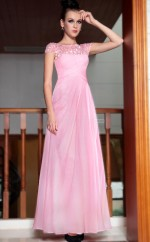 Long Pink Formal Dress with Sequins and Beadings(GZNZ30842)