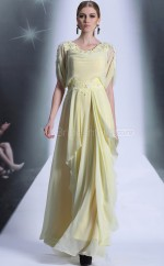 A-line Long Yellow Formal Dress (GZNZ30909)