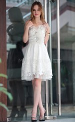 Sweetheart A-line White Homecoming Party Dress (GZNZ6021)