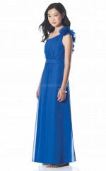 Ocean Blue Long A Line Chiffon Junior Bridesmaid Dress (NZJBD06-002)