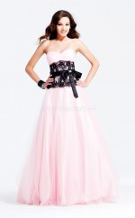 Lace A-line Sweetheart Floor-length Blushing Pink Ball Dresses (NZJT06012)