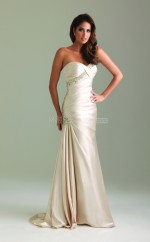 Champagne Sheath Sweetheart Taffeta Long Ball Dresses (NZJT06049)