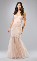 Tulle Mermaid Sweetheart Floor-length Pearl Pink Ball Dresses (NZJT06056)