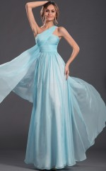 Glamorous Pool Chiffon Long Bridesmaid Dress NZJT061416