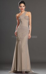 Teenage Gray Chiffon Long Bridesmaid Dress NZJT061441