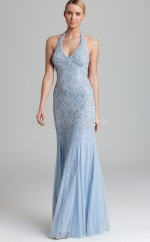 Silk Like Chiffon Mermaid Halter Floor-length Lavender Ball Dresses (NZJT06167)