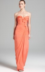 Watermelon Sheath Sweetheart Chiffon Long Ball Dresses (NZJT06178)