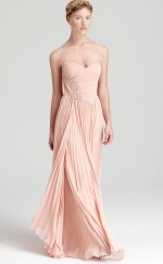 Silk Like Chiffon A-line Sweetheart Floor-length Pearl Pink Ball Dresses (NZJT06181)