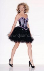 Black Tulle Princess Sweetheart  Short School Ball Gowns(NZJT06410)