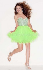 Organza Princess Sweetheart  Short Green Ball Dresses (NZJT06419)