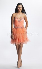 Watermelon Tulle Princess Sweetheart  Short School Ball Gowns(NZJT06425)