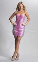 Silver Sequined Sheath Sweetheart  Short School Ball Gowns(NZJT06450)