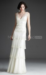 Tulle Princess V-neck Floor-length White Ball Dresses (NZJT06482)