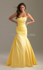 Mermaid Strapless Chiffon Long Ball Dresses (NZJT06513)