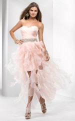 Chiffon Princess Sweetheart Asymmetrical Blushing Pink Ball Dresses (NZJT06528)