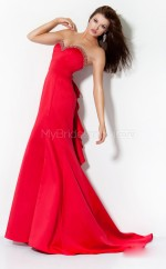 Satin Mermaid Sweetheart Court Train Red Ball Dresses (NZJT06539)