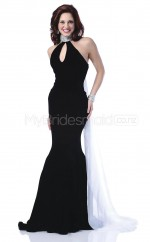 Knitwear Mermaid Scalloped Court Train Black Ball Dresses (NZJT06556)