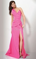 A-line Strapless Satin Long Ball Dresses (NZJT06562)