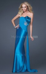 Strench Satin Sheath Strapless Watteau Train Pool Ball Dresses (NZJT06594)
