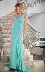A-line V-neck Chiffon Long Ball Dresses (NZJT06634)