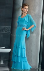 Chiffon A-line Cowl Floor-length Pool Ball Dresses (NZJT06667)