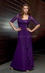 Chiffon A-line Strapless Sweep Train Regency Ball Dresses (NZJT06668)