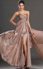 A-line Sweetheart Chiffon Long Ball Dresses (NZJT06695)