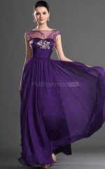 Satin A-line Bateau Floor-length Regency Ball Dresses (NZJT06716)