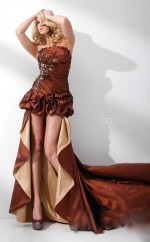 Sheath Strapless Taffeta Long Ball Dresses (NZJT06739)