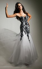 Tulle Mermaid Sweetheart Sweep Train White Ball Dresses (NZJT06746)