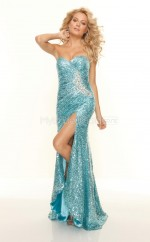 Sequined Mermaid Sweetheart Sweep Train Turquoise Ball Dresses (NZJT06773)