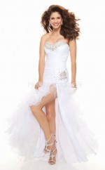 Organza Mermaid Sweetheart Floor-length White Ball Dresses (NZJT06774)