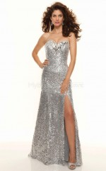 Silver Mermaid Sweetheart Sequined Long Ball Dresses (NZJT06785)