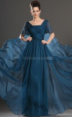 Chiffon A-line Square Floor-length Blue 873 Ball Dresses (NZJT06801)