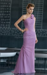 Mermaid One Shoulder Chiffon One Shoulder Ball Dresses (NZJT06819)