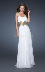 Chiffon A-line Sweetheart Sweep Train White Ball Dresses (NZJT06826)