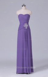 Violet Long Sweetheart Neck Chiffon A Line Wholesale Clearance Price Bridesmaid Dress BD-NZS510