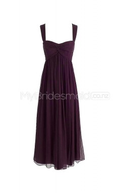 Custom Color Straps Chiffon Long Bridesmaid Dress BSD260