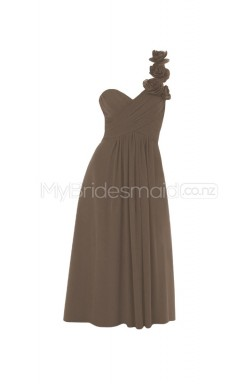 Custom Color Short One Shoulder Bridesmaid Dresses BSD296
