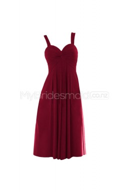 Custom Color Short Straps Bridesmaid Dresses BSD306